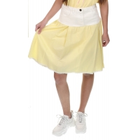 Elisabetta Franchi Girls Skirt Yellow White