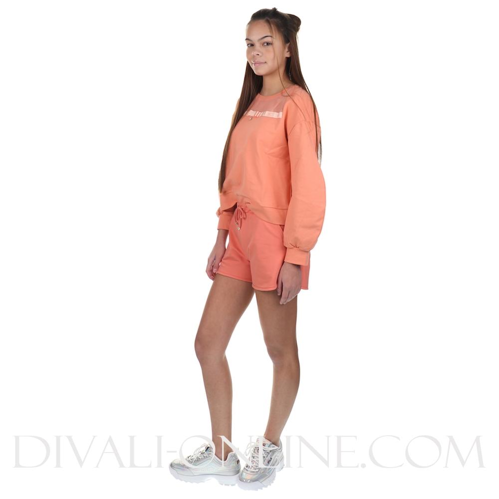 Sweater Peach Bow