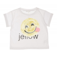 Fun&Fun T-shirt Smiley Pailletten