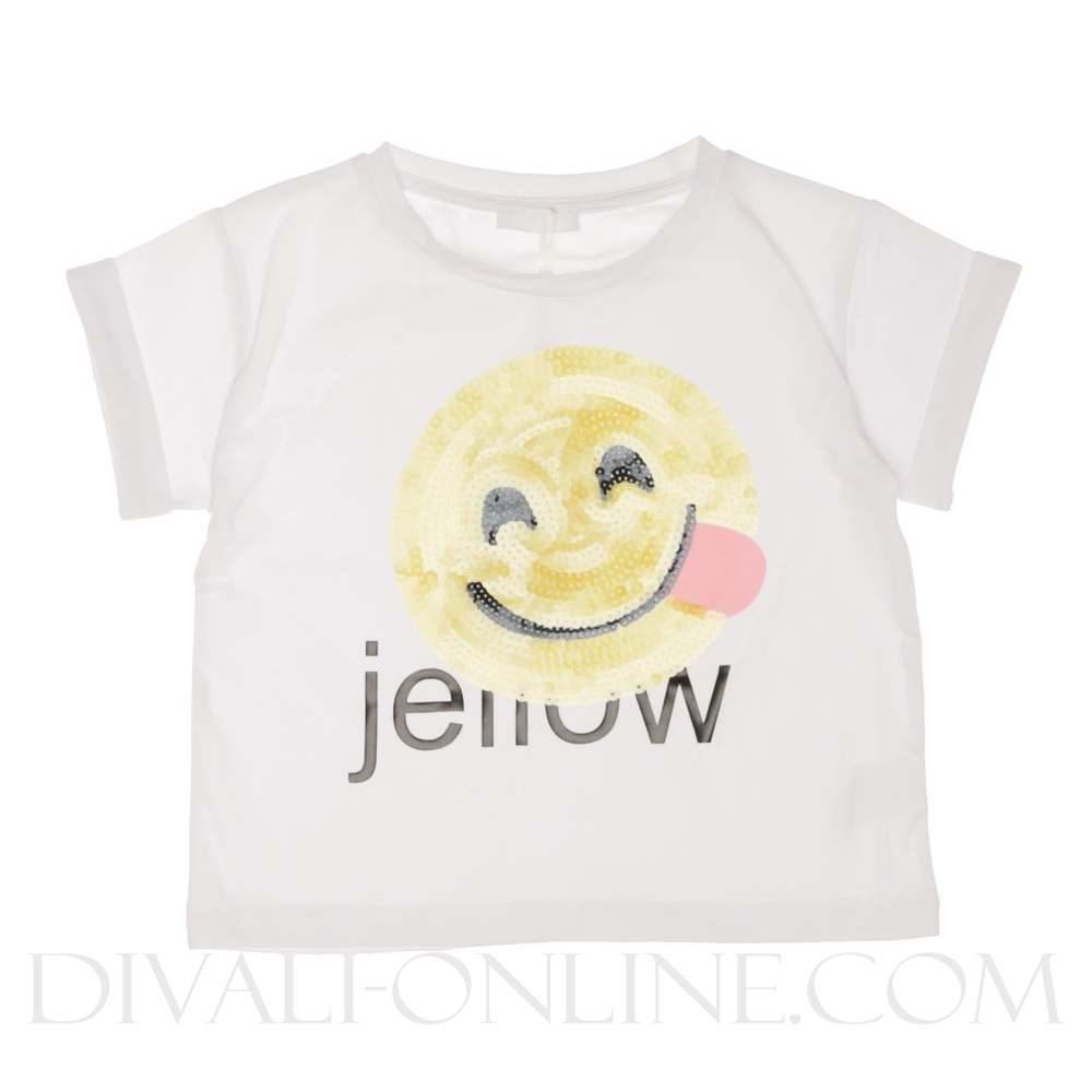 T-shirt Smiley Pailletten