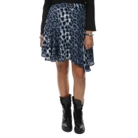 Goldie Estelle Skirt Leopard Print Blue Logo