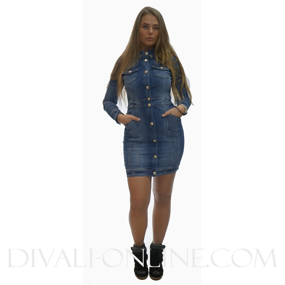 Denim dress Hana True blue