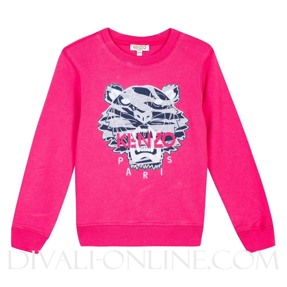 Sweater Tiger Fuchia Grey