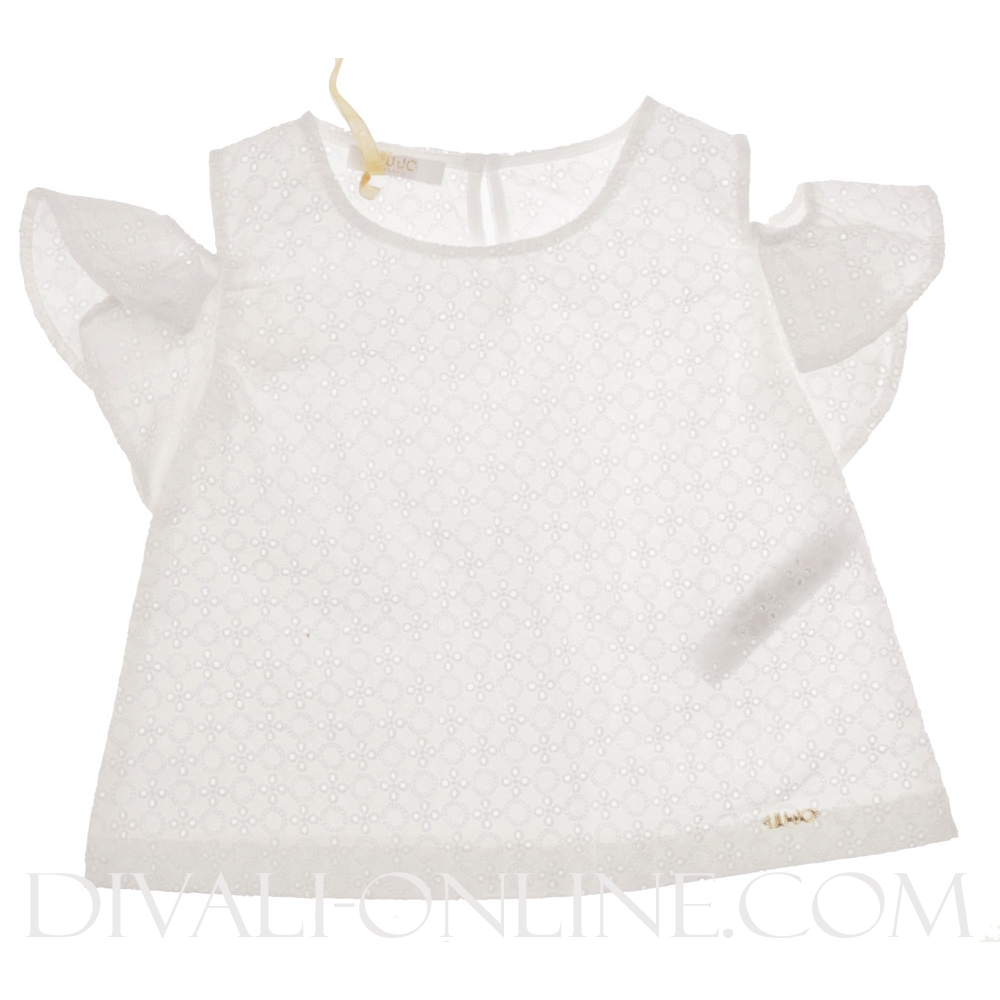 Top Broderie White