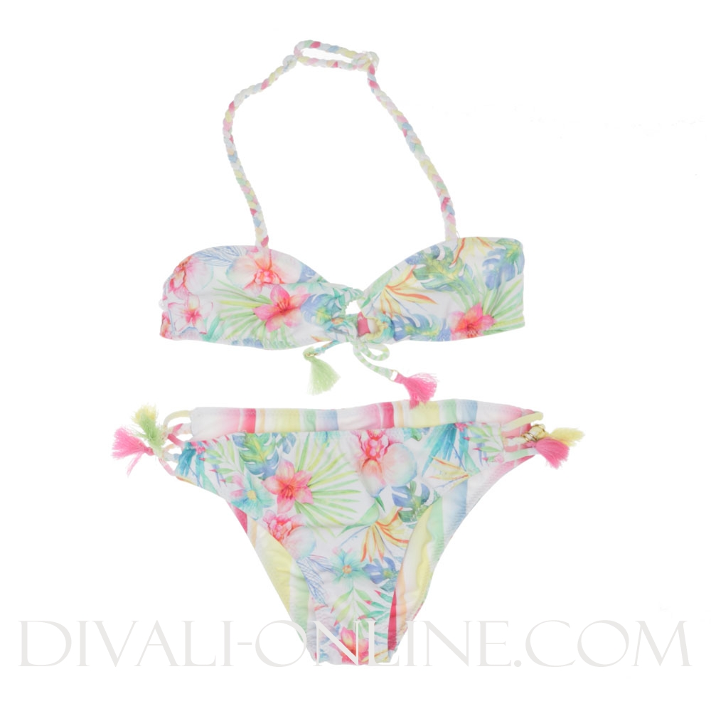 Bikini Two side Tropical/striped multicolour