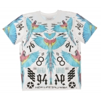 Marcelo Burlon T-shirt Birds Blue White