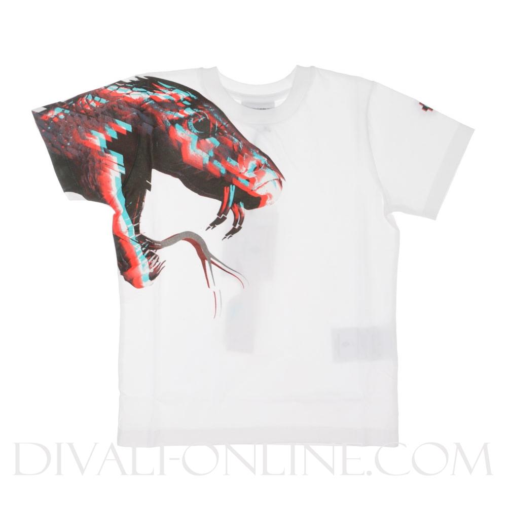 T-Shirt Snake 3D White