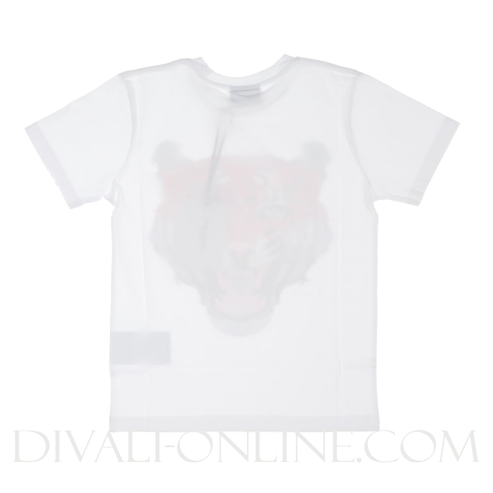 T-shirt Tiger Red White