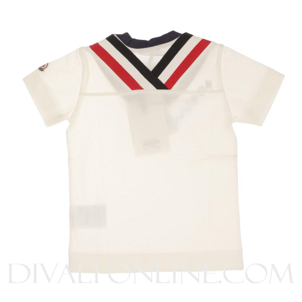 Moncler t shirt v stripe offwhite for Off white moncler t shirt