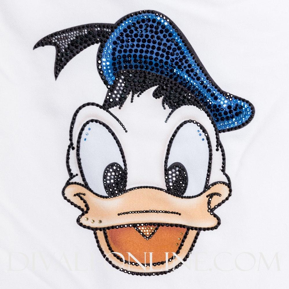 Wijde Top Donald Duck Roezel Mouw Wit