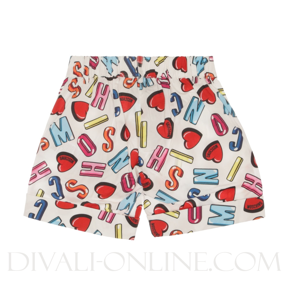 Shorts Alphabet Heart Color