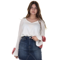 Maison Runway Top Off White Roze Strik