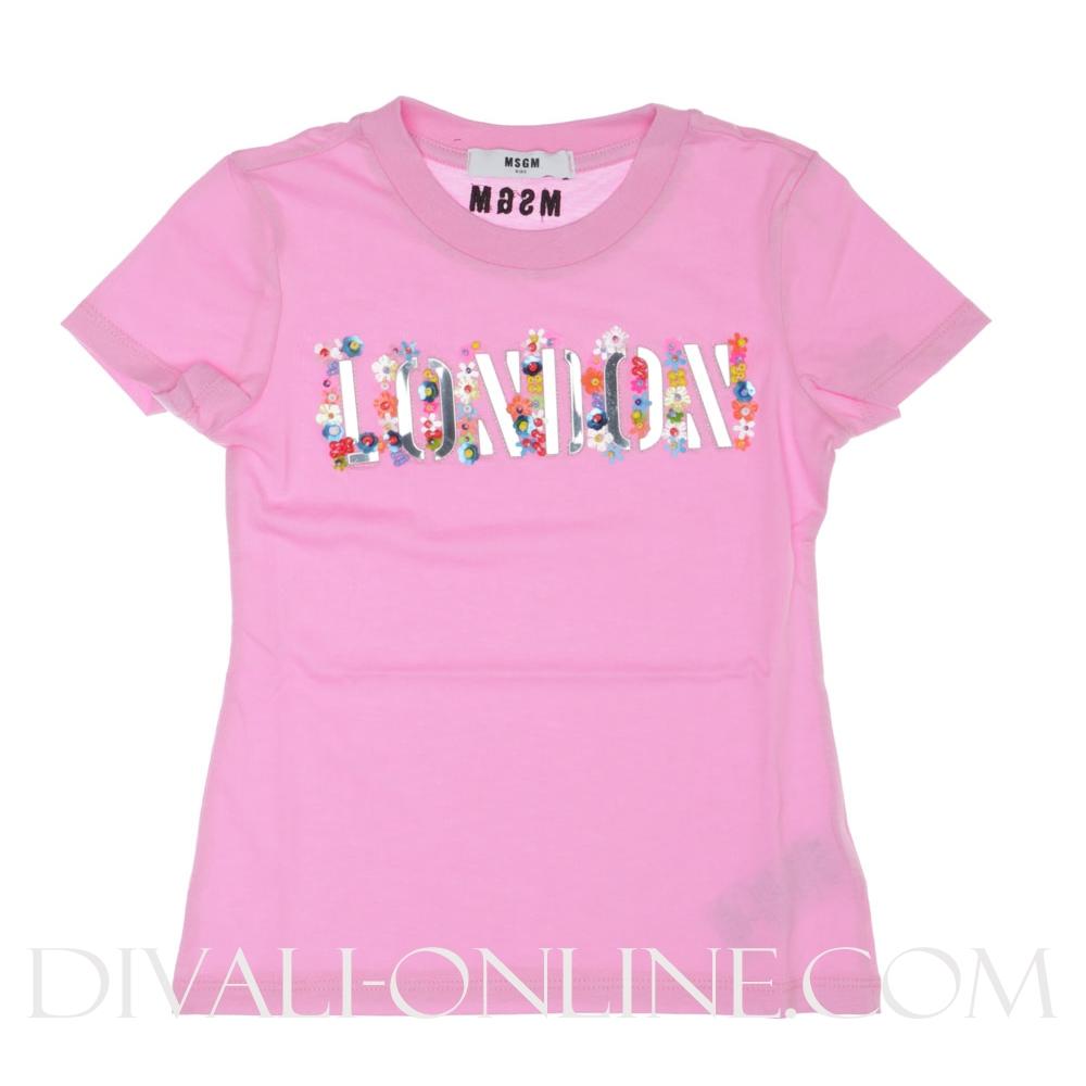 T-shirt Pink Flowers London