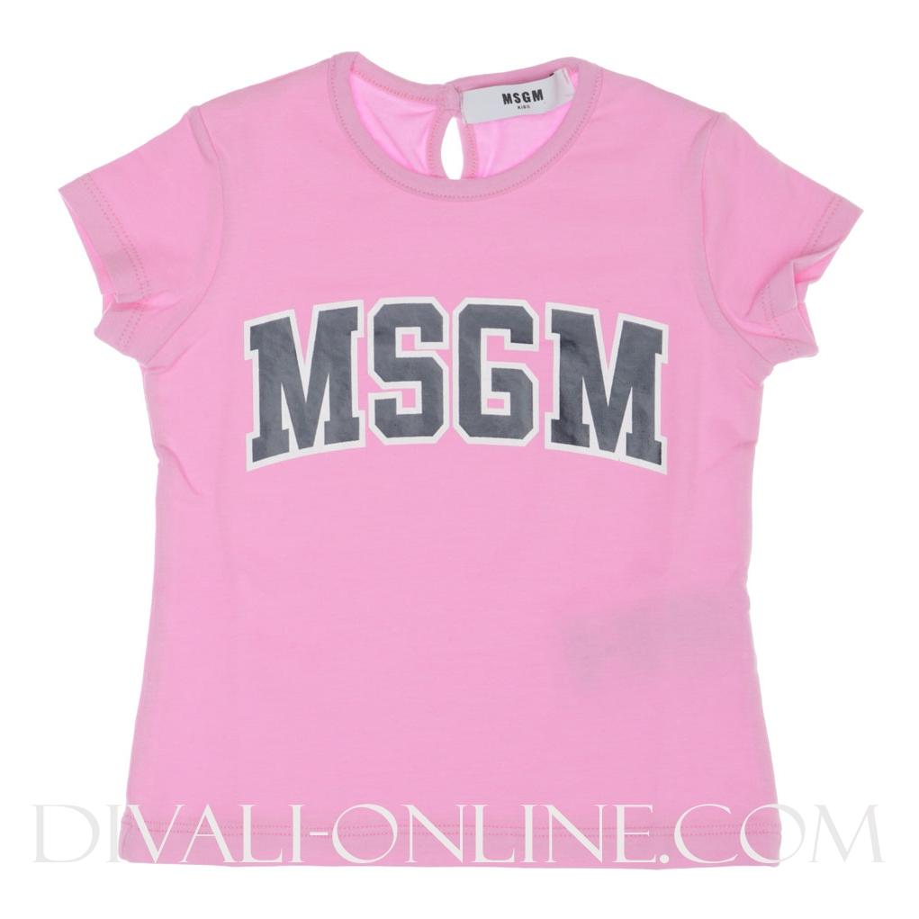 Baby T-shirt Pink Logo Navy