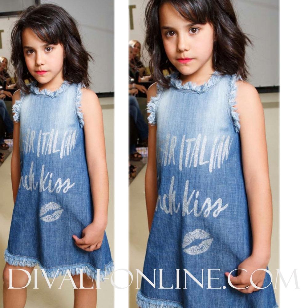 Mouwloze jurk Babeaudress Denim