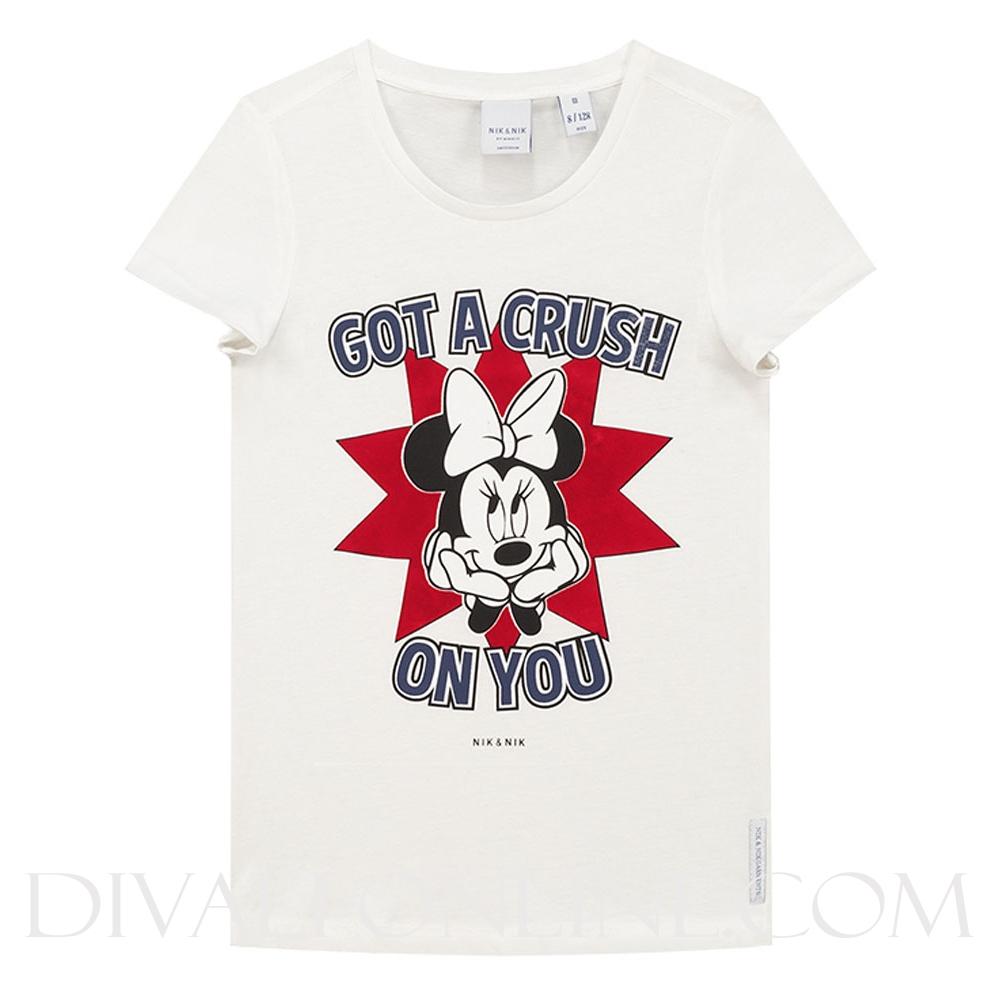 Minnie Crush T-shirt Off White