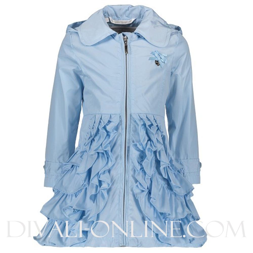 Baby Girls Jacket Ruffles Morning Blue
