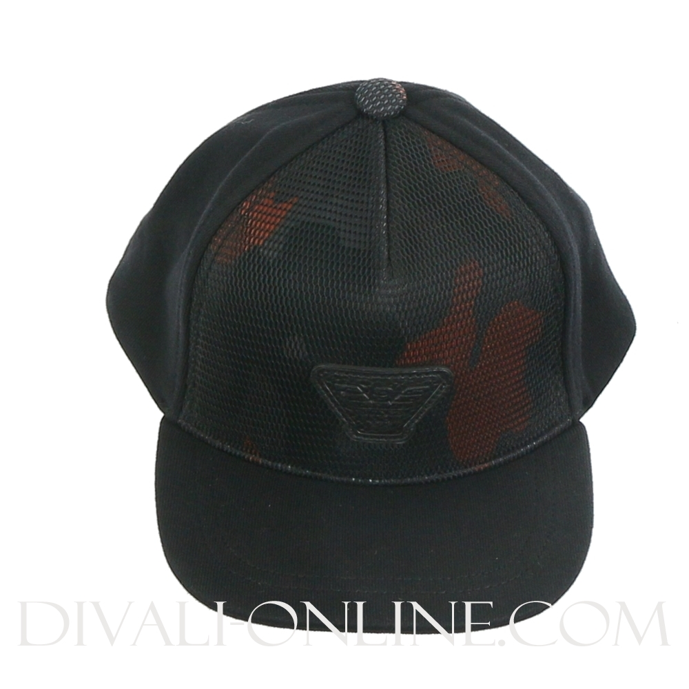 Baseball cap Camo Black-orange