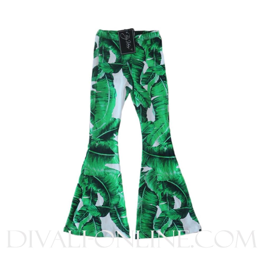 Kids Palmtree Flare Pants