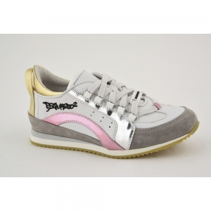 Sneaker White-pink-silver-gold
