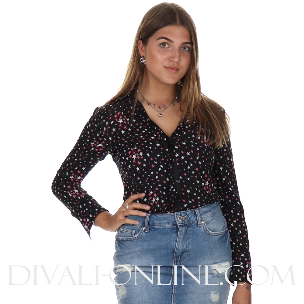 Blouse Sofie Black-pink