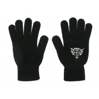 Guess jeans Gloves Black Silver Beads