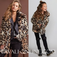 Jacky Luxury Jacket Faux Fur Leopard