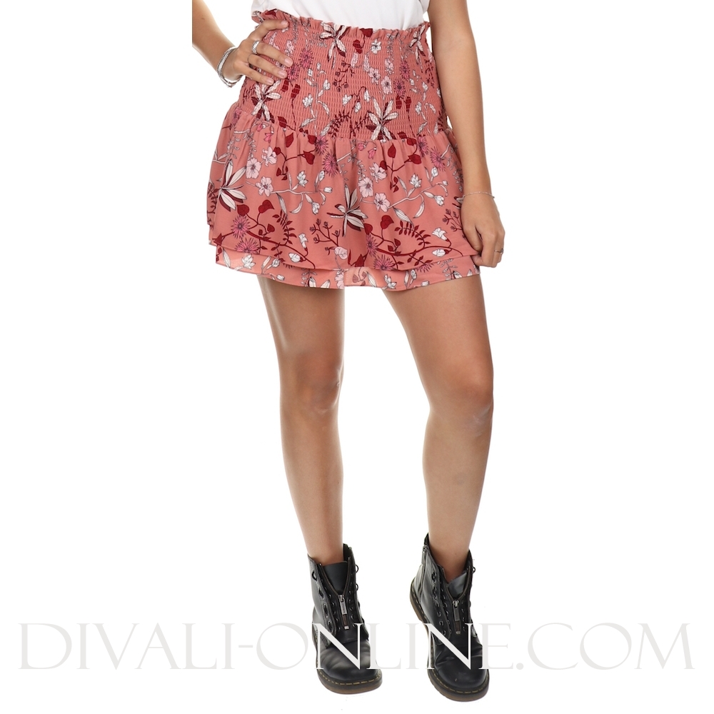 83e1ce3ddceda7 JoshV Skirt Blair Flower Dark Nude - €44.98