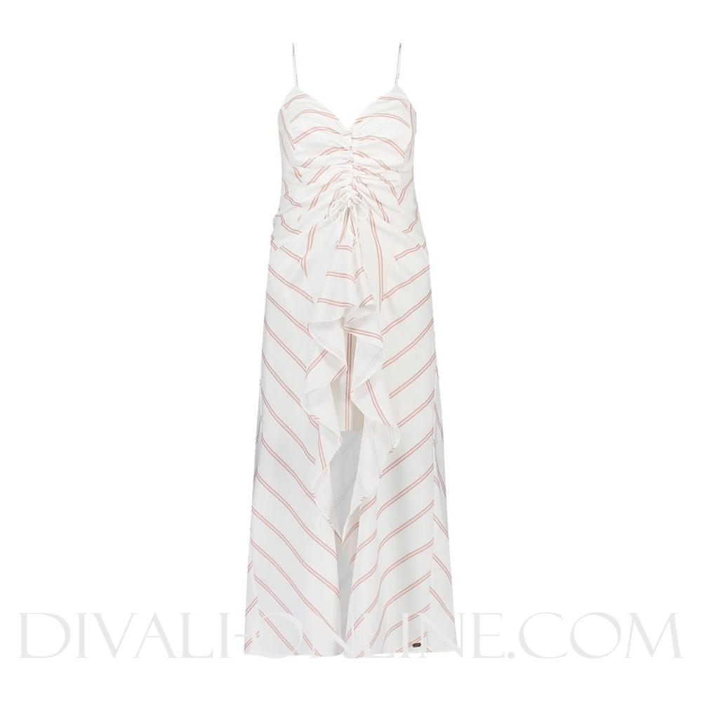 Jurk Emilia Off White Nude Stripe