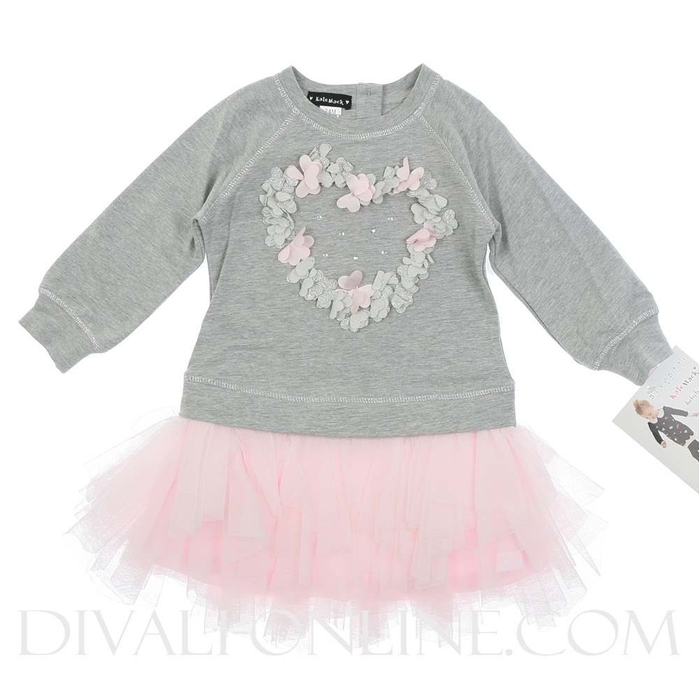 Dress Heart - Grey bovenstuk met Pink rok