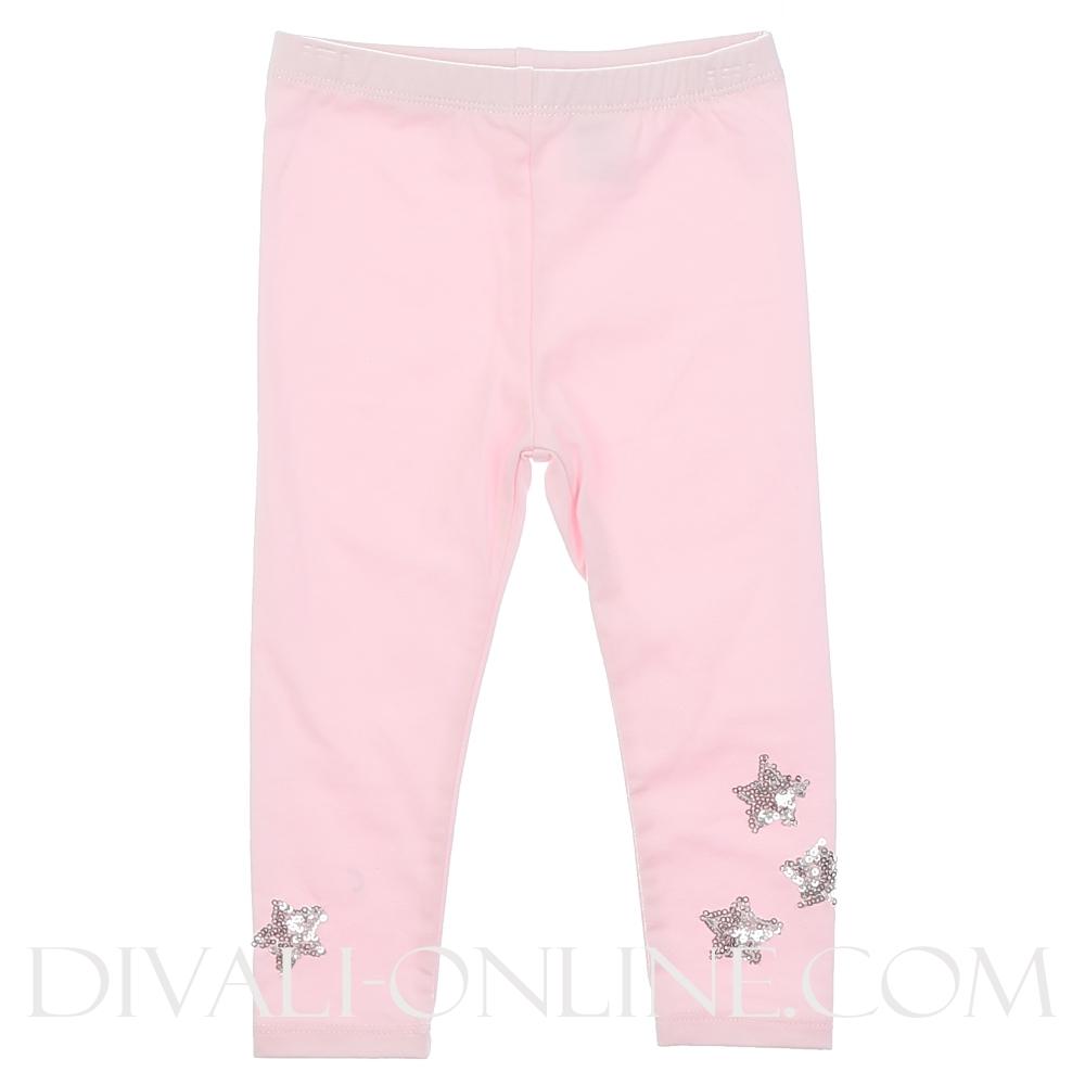 Legging Pink met zilver sterren
