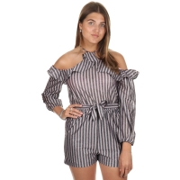 Maison Runway Jumpsuit Vince Striped