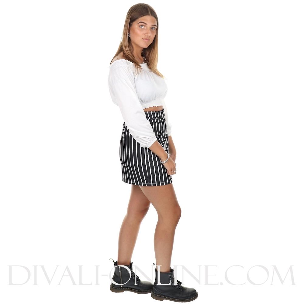 Rok Suze Black-white striped