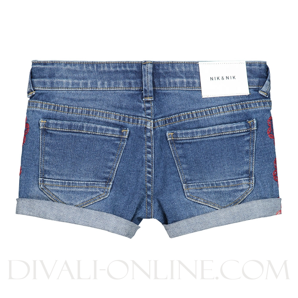 Femke Shorts Mid Blue Denim