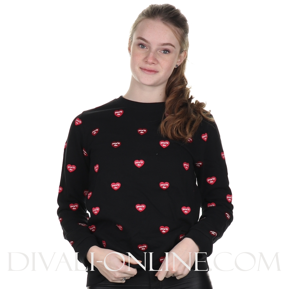 Sweater Hearts All Over Black