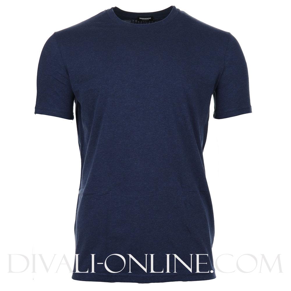 T-shirt Round Neck Melange Navy