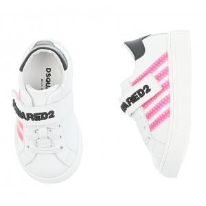 Sneaker White Pink Stripes