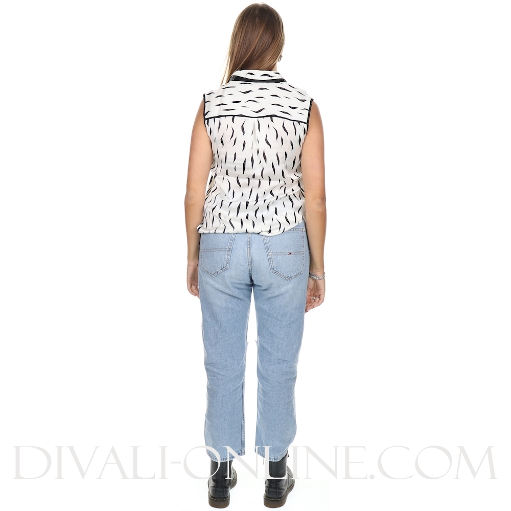 Sisi Sleeveless Blouse Off White