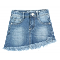Fun&Fun Skirt Red Stripe At The Back Denim Blue