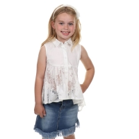 Fun&Fun Blouse White Lace