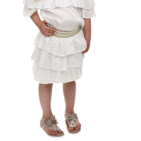Fun&Fun Skirt Ruffle Gold White