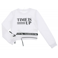 Fun&Fun Sweater Time Is Up Off White
