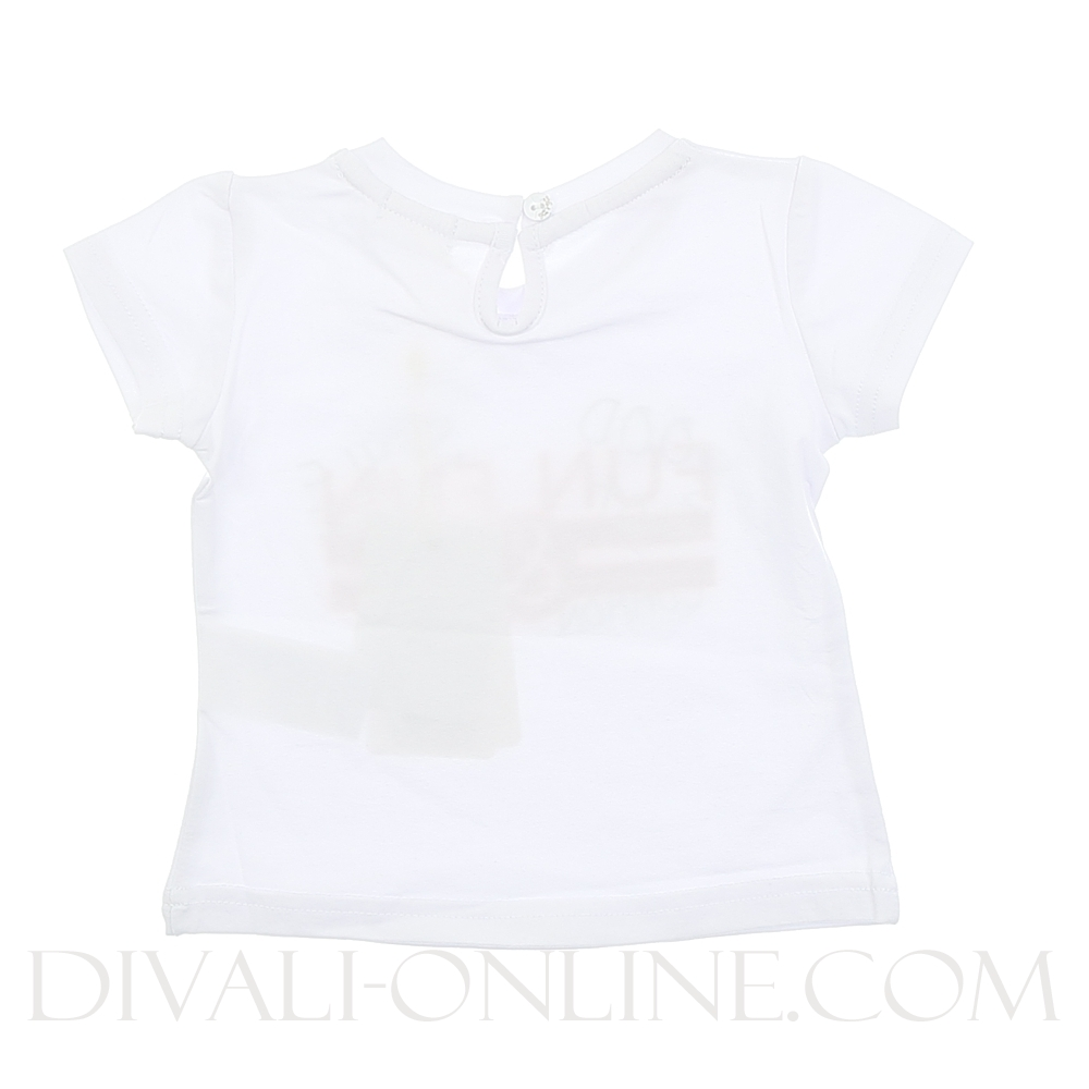 T-Shirt Glitters Red White