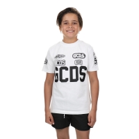 GCDS T-Shirt Logos Black White