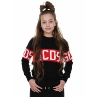 GCDS Sweater Unisex Logo Red Black