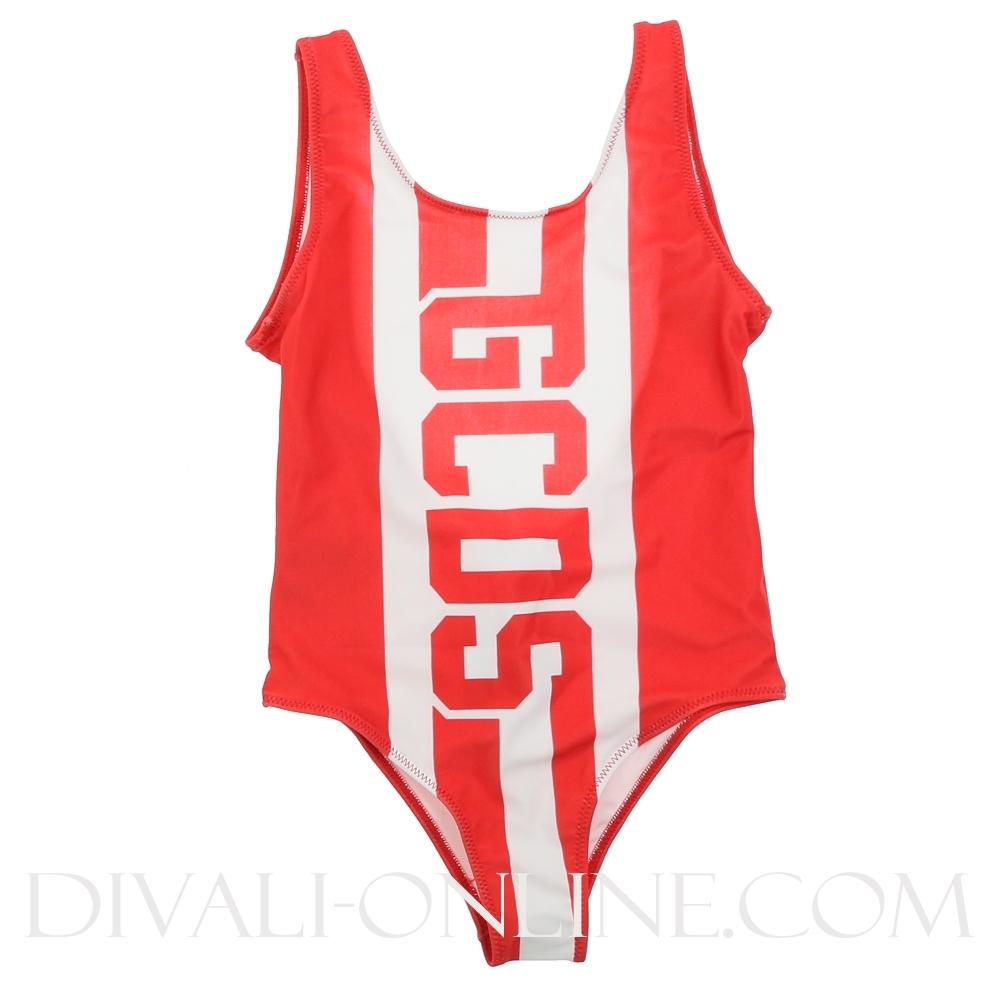 Swimsuit Red Logo White