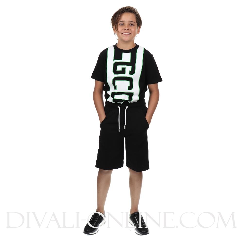 Short Sweatpants Logo Black