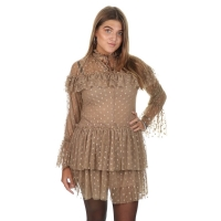 Goldie Estelle Clover Dress Beige