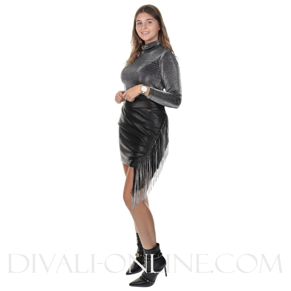 Dolly Rok Black Franjes