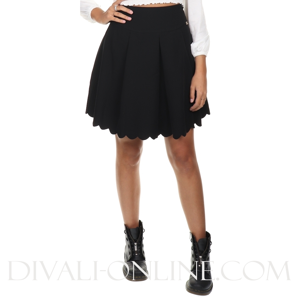 Heather Skirt Black